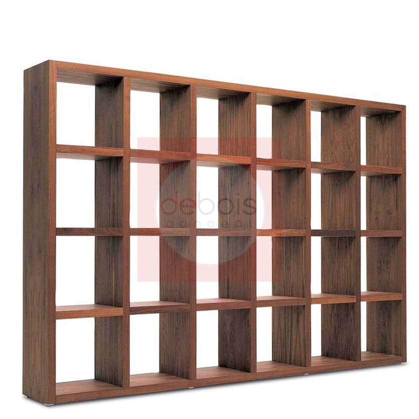 Biblioteca De Madera Maciza Debois Muebles Y Decoracion - Bibliotecas-de-madera