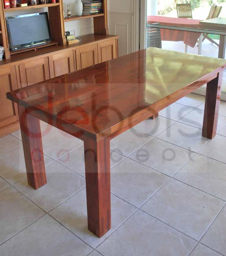 Mesa Rectangular de Cedro Macizo - Debois Muebles y Decoración