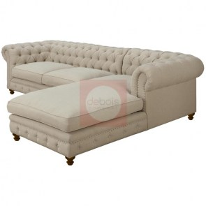 Esquinero Chesterfield natural para living
