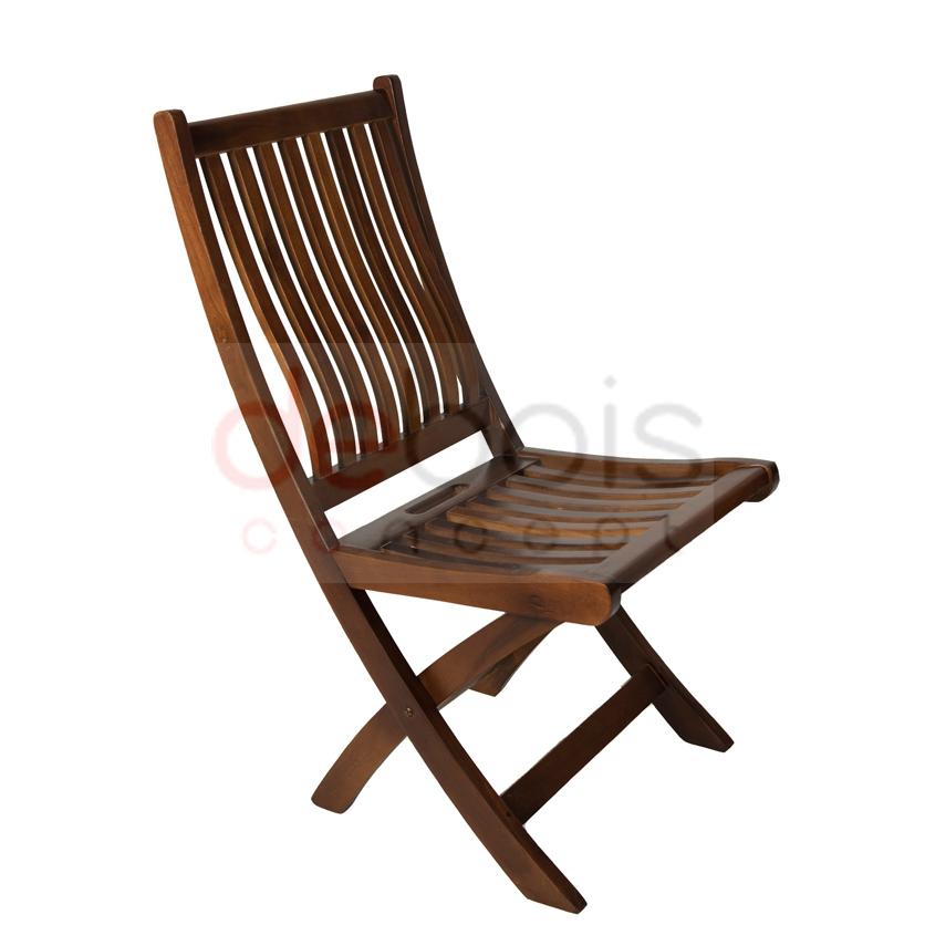 Silla plegable de madera de teka debois muebles de madera Sillas teka jardin